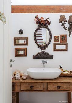 29 Ideas Bathroom Design Small Bathtub Sinks For 2019 Design Room, Lavabo Vintage, Vintage Bathtub, Diy Home Decor, Room Decor, Small Bathtub, Rustic Mirrors, Interior Decorating, Interior Design