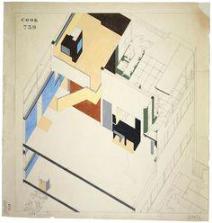 Cutaway of Le Corbusier's Villa Cook