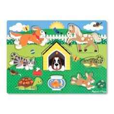 Pets Peg Puzzle - 8 Pieces #9053 by Melissa & Doug, from Eliza Henry in Archbold, Ohio.