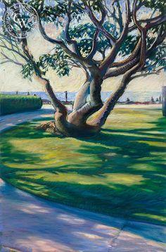 South Bay Park Shadows, by Ken Goldman, California artist – California Watercolor