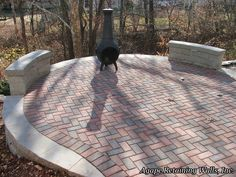RomanStone Holland Paver Patio designed and installed by Agape Retaining Walls, Inc. in St. Louis, MO