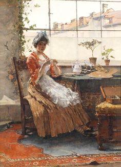 Max Hammerl ~ Afternoon Tea ~ (German: 1856-1886)