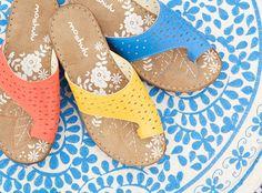 Baklava, pin punch detail sandals   Moshulu