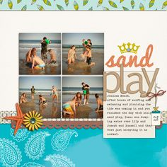 Designing Scrapbook Pages with Square Photos | Debbie Hodge | GetItScrapped.com