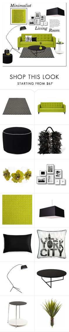 """Minimalist Living Room"" by yummymummystyle ❤ liked on Polyvore featuring interior, interiors, interior design, home, home decor, interior decorating, Pappelina, Wallace, Sanayi 313 and Forest of Chintz"