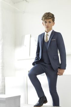 Boys wedding suits - 2019 New Blue Boys Suits for Wedding Formal Prom Suits for Children Slim Fit Kids Tuxedos Ring Bearer Suits (Jacket Pants Tie Vest) – Boys wedding suits Formal Prom Suits, Boys Formal Wear, Cute Teenage Boys, Cute Boys, Suit Fashion, Boy Fashion, Kids Wedding Suits, Young Boys Fashion, Kids Suits