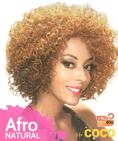 Zury Sis Wig COCO (Afro Natural), Ombre color available Natural Hair Wigs, Natural Afro Hairstyles, Natural Hair Styles, Ombre Color, Synthetic Wigs, Hair Looks, Extensions, Hair Beauty, Stylish