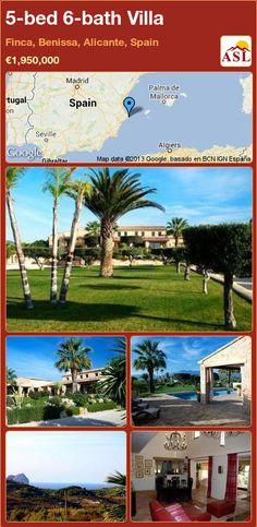 5-bed 6-bath Villa in Finca, Benissa, Alicante, Spain ►€1,950,000 #PropertyForSaleInSpain