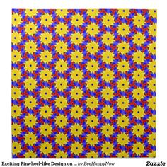 Exciting Pinwheel-like Design on Cloth Napkins