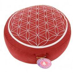 Poduszka do medytacji - Kwiat Życia/ czerwona Drupal, Saddle Bags, Coin Purse, Purses, Wallet, Products, Design, Flower Of Life, Toss Pillows