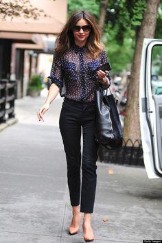 Miranda Kerr's NYC street style
