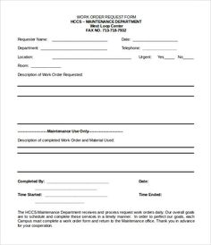 Order Forms Templates Free Word Pinchris Spectar On Work Order Templates  Pinterest  Template .