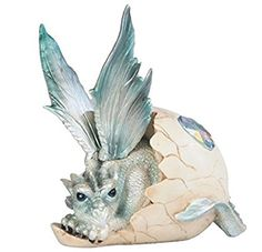 """StealStreet SS-G-71470 Baby Dragon Resting in Eggshell with Gem Figurine, 5"""""""