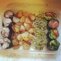 assiette régime navets confits makis légumes
