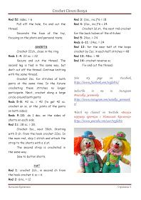 I suggest you will crochet a funny clown! The growth of the toy is about 16 cm., Only shorts are removed. Free Patterns for you! Crochet Teddy Bear Pattern, Crochet Dolls Free Patterns, Crochet Doll Pattern, Amigurumi Patterns, Doll Patterns, Crochet Toys, Crochet Afghans, Mini, Crocheting