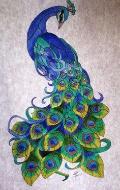 Resultado de imagen para pavo real para dibujar