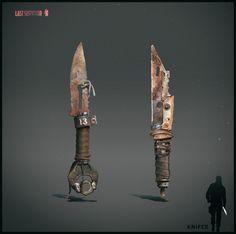 ArtStation - Melee weapon design. Post apocalyptic setting, Anton Kazakov