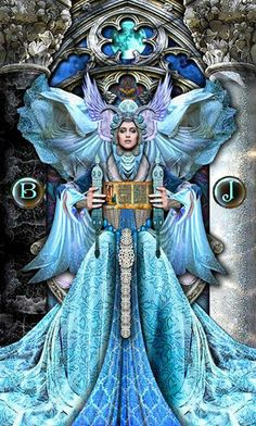The High Priestess reveals the mysteries of the universe to us but we must get still, get quiet in order to hear them. She is the intuitive part of us that knows the next step we must take but we must really listen. As you make your way through today, what is the High Priestess trying to tell you? What message is she trying to get through to you?