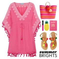 """""""Summer Brights"""" by lgb321 ❤ liked on Polyvore featuring Melissa Odabash, Miss Selfridge, Passport, Mar y Sol and NARS Cosmetics"""