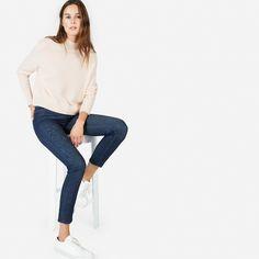 4b21973346 The Cashmere Crop Mockneck - Pale Pink