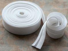Linen bias tape  3 meters  width 27 cm  white by namolio on Etsy, $7.85