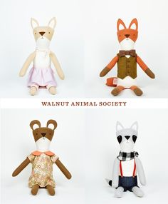 WALNUT ANIMAL SOCIETY- more to love and more to hug with these oversized cute animal plushes.