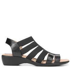 Lifestride Women's Toni Medium/Wide Sandals (Black)