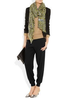 what to wear with silk track pants - Google Search
