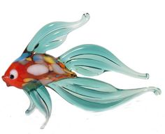Glass Fish Hand-Blown Collectible  Figurine code by GlassZooShop