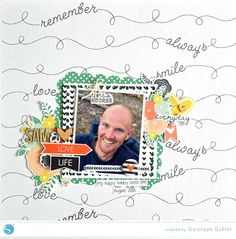Silhouette America Blog | A Stamped Look with Sketch Pens (scrapbook layout)