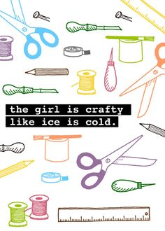 The girl is ...