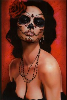Day of the dead...awesome make-up