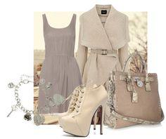 fall fashion idea - a subtle monochromatic palette