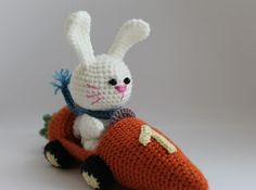 Amigurumi Car Carrots and Rabbit-Free Pattern