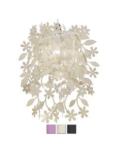 Floral Cream Pendant Ceiling Light Shade