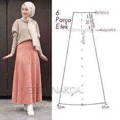 Just pinning for the skirt pattern. Muslim Fashion, Hijab Fashion, Fashion Sewing, Diy Fashion, Sewing Clothes, Diy Clothes, Pola Rok, Skirt Patterns Sewing, Creation Couture