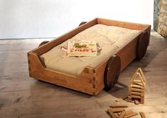 I could make this for WILL! and it could actually roll! 10 Handmade Cribs, Cradles, & Children's Beds