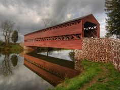 Gettysburg Sach's Covered Bridge - Lees night time retreat to the East