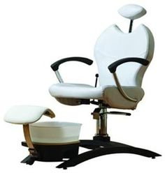 The Belava Indulgence Chair requires no plumbing, swivels 360-degrees, and reclines up to 150-degrees,