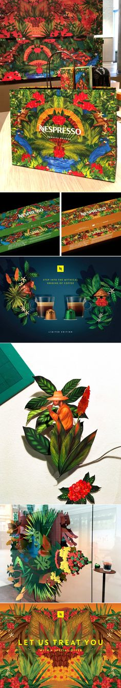 "Nespresso's ""Origins of Coffee"" Campaign Is Bringing All the Botanical Vibes — The Dieline 