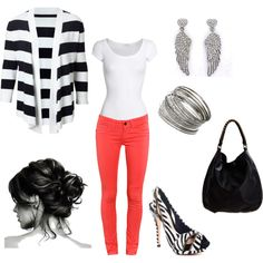 Stripes... Wish I was brave enough to wear these pants... Love the outfit