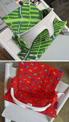 Sewing For Babies Maak je eigen tripp trapp kussentjes! Sewing Patterns For Kids, Sewing Projects For Kids, Sewing For Kids, Baby Sewing, Baby Patterns, Diy For Kids, Baby Dyi, Diy Baby Gifts, Granny Joy