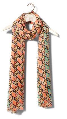Geometric print foulard
