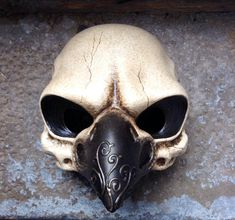 Bird Skull mask by Piratemask on Etsy, $95.00