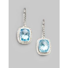 Need a new pair of topaz earrings that aren't too sharp to hurt the babies