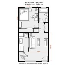 1 bedroom apartment floor plans 500 sf | DU Apartments - Floor Plans & Rates - Aspen Gate Apartments