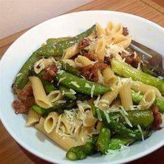 Penne with Spring Vegetables