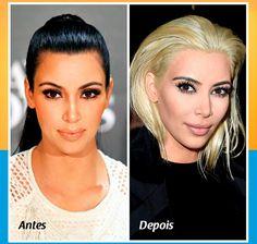 Kim Kardashian mudou mais uma vez o visual, dessa vez ela está com os cabelos loiro platinado, abandonando assim os cabelos preto. #famosas #loiro #platinado #cabelos #visual #look #transformacao #loucasporcabelo #tutanat