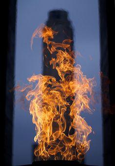 fuego... en Rosario - monumento a la bandera