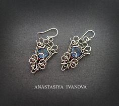 silver earrings with quartz by nastya-iv83.deviantart.com on @deviantART